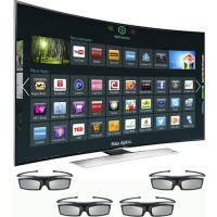 "Smart TV 3D LED 65"" Samsung Curva HU9000 Ultra HD 4K"